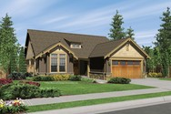 Front Rendering of Mascord House Plan 1103BA - The Granville