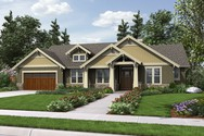 Front Rendering of Mascord House Plan 1144EB - The Umatilla