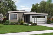 Front Rendering of Mascord House Plan 1164ES - The Park Place