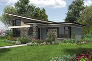 Front Rendering of Mascord House Plan 1166 - The Dunland