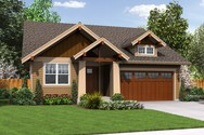 Front Rendering of Mascord House Plan 1168ES - The Espresso
