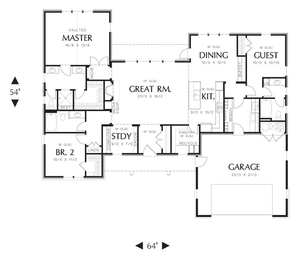 House plan 1170 the meriwether House plans mascord