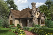 Front Rendering of Mascord House Plan 1173 - The Mirkwood