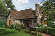Front Rendering of Mascord House Plan 1173A - The Goldberry