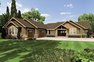Front Rendering of Mascord House Plan 1235 - The Broderick