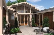 Front Rendering of Mascord House Plan 1237 - The Skylar