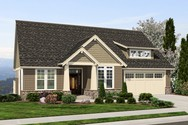 Front Rendering of Mascord House Plan 1244 - The Brandywine