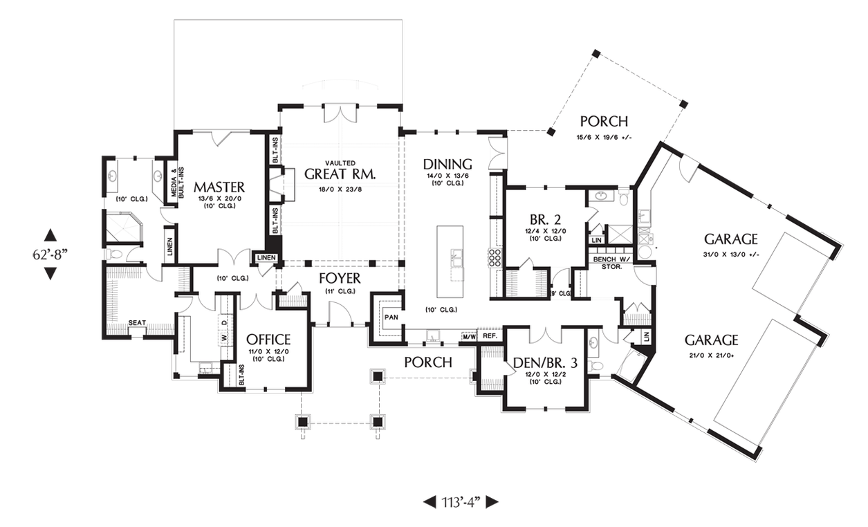 House plan 1250 the westfall House plans mascord