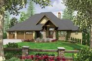 Front Rendering of Mascord House Plan 1324 - The Lenhart