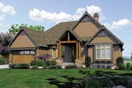 Front Rendering of Mascord House Plan 1329 - The Sycamore