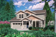 Front Rendering of Mascord House Plan 21101 - The Connolly