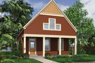 Front Rendering of Mascord House Plan 21114 - The Jasmine