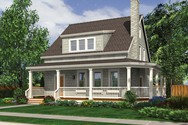 Front Rendering of Mascord House Plan 21115 - The Osprey