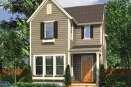 Front Rendering of Mascord House Plan 21116A - The Elsie