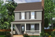 Front Rendering of Mascord House Plan 21118A - The Kayleigh