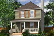 Front Rendering of Mascord House Plan 21118B - The Juniper