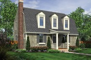 Front Rendering of Mascord House Plan 21119 - The Rochelle