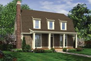 Front Rendering of Mascord House Plan 21119A - The Mona