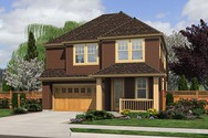 Front Rendering of Mascord House Plan 21126AC - The Honeydale
