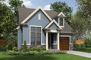 Front Rendering of Mascord House Plan 21132 - The Dunstable