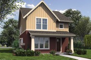 Front Rendering of Mascord House Plan 21142 - The Florette