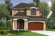 Front Rendering of Mascord House Plan 21144A - The Barview