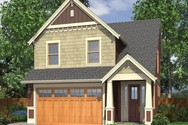 Front Rendering of Mascord House Plan 2174B - The Monroe