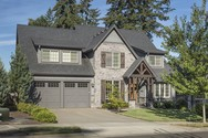 Front Exterior of Mascord House Plan 22122U - The Dinsmore