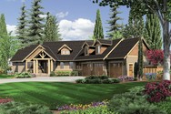 Front Rendering of Mascord House Plan 22156 - The Halstad