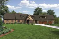 Front Rendering of Mascord House Plan 22156E - The Deschutes