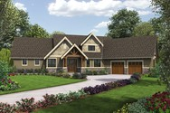 Front Rendering of Mascord House Plan 22156FA - The Ferguson