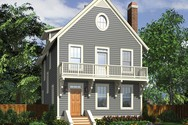 Front Rendering of Mascord House Plan 22171A - The Eaton