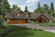 Front Rendering of Mascord House Plan 22190 - The Silverton