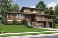 Front Rendering of Mascord House Plan 22197A - The Burbank