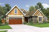Front Rendering of Mascord House Plan 22198 - The Cotswolder