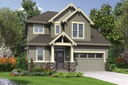 Front Rendering of Mascord House Plan 22200B - The Willowcreek