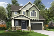 Front Rendering of Mascord House Plan 22200 - The Freewater