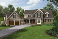 Front Rendering of Mascord House Plan 22201 - The Hartford