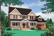 Front Rendering of Mascord House Plan 2261H - The Camden