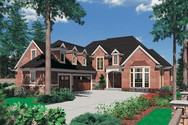 Front Rendering of Mascord House Plan 2373 - The Marlow