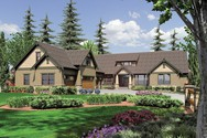 Front Rendering of Mascord House Plan 2377 - The Pineville