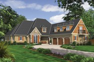 Front Rendering of Mascord House Plan 2390 - The Hamilton