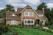 Front Rendering of Mascord House Plan 2391 - The Cannondale