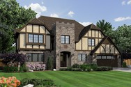 Front Rendering of Mascord House Plan 2392 - The Kent