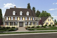 Front Rendering of Mascord House Plan 2418A - The Garnell
