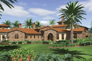 Front Rendering of Mascord House Plan 2440 - The Franciscan