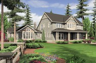 Front Rendering of Mascord House Plan 2443 - The Seligman