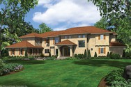 Front Rendering of Mascord House Plan 2454B - The Valencia