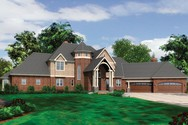 Front Rendering of Mascord House Plan 2455 - The Lacombe
