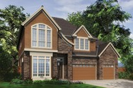 Front Rendering of Mascord House Plan 2457 - The Tucker